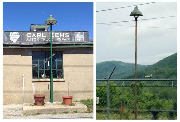 vintage industrial lighting outdoor
