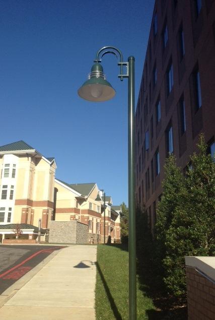 exterior commercial lighting post mount lighting