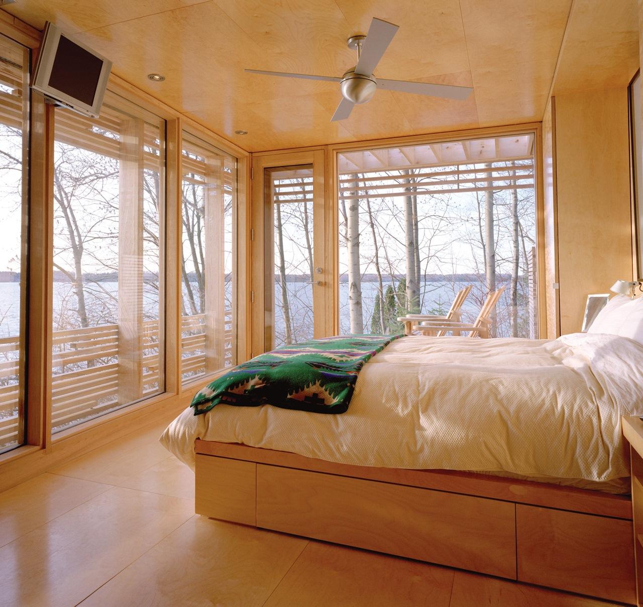 modern ceiling fan bedroom
