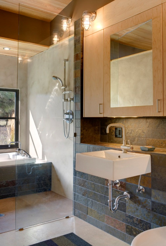 rustic sconce wall lighting bathroom