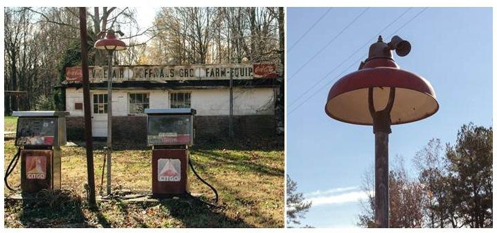 gas station lights vintage lighting