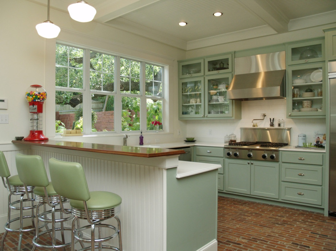 schoolhouse shades kitchen lighting1
