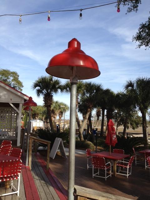 vintage post mount lighting restaurant commercial