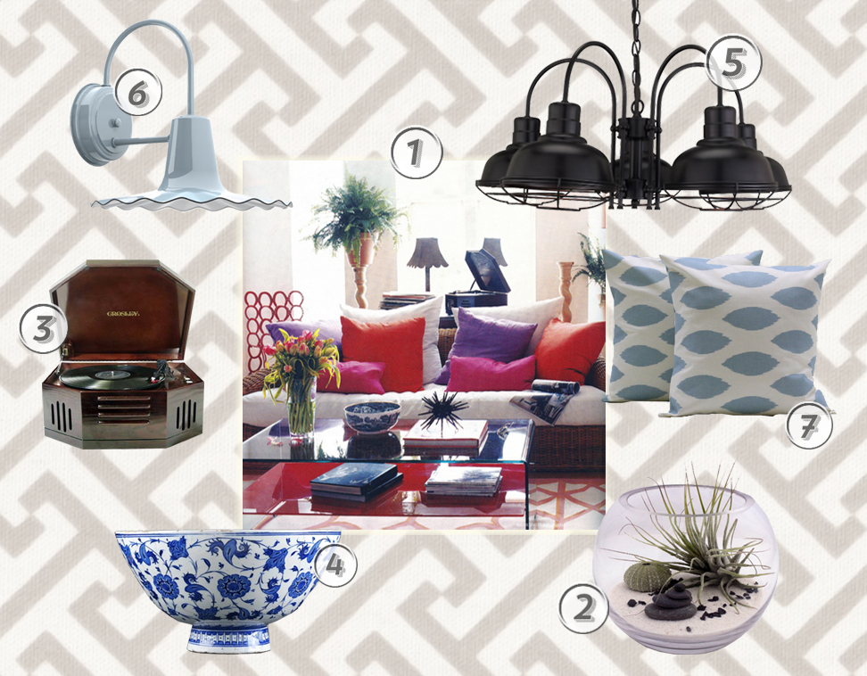 style me sunday transitional eclectic livingroom