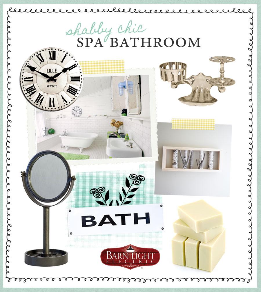 style me sunday shabby chic spa bath
