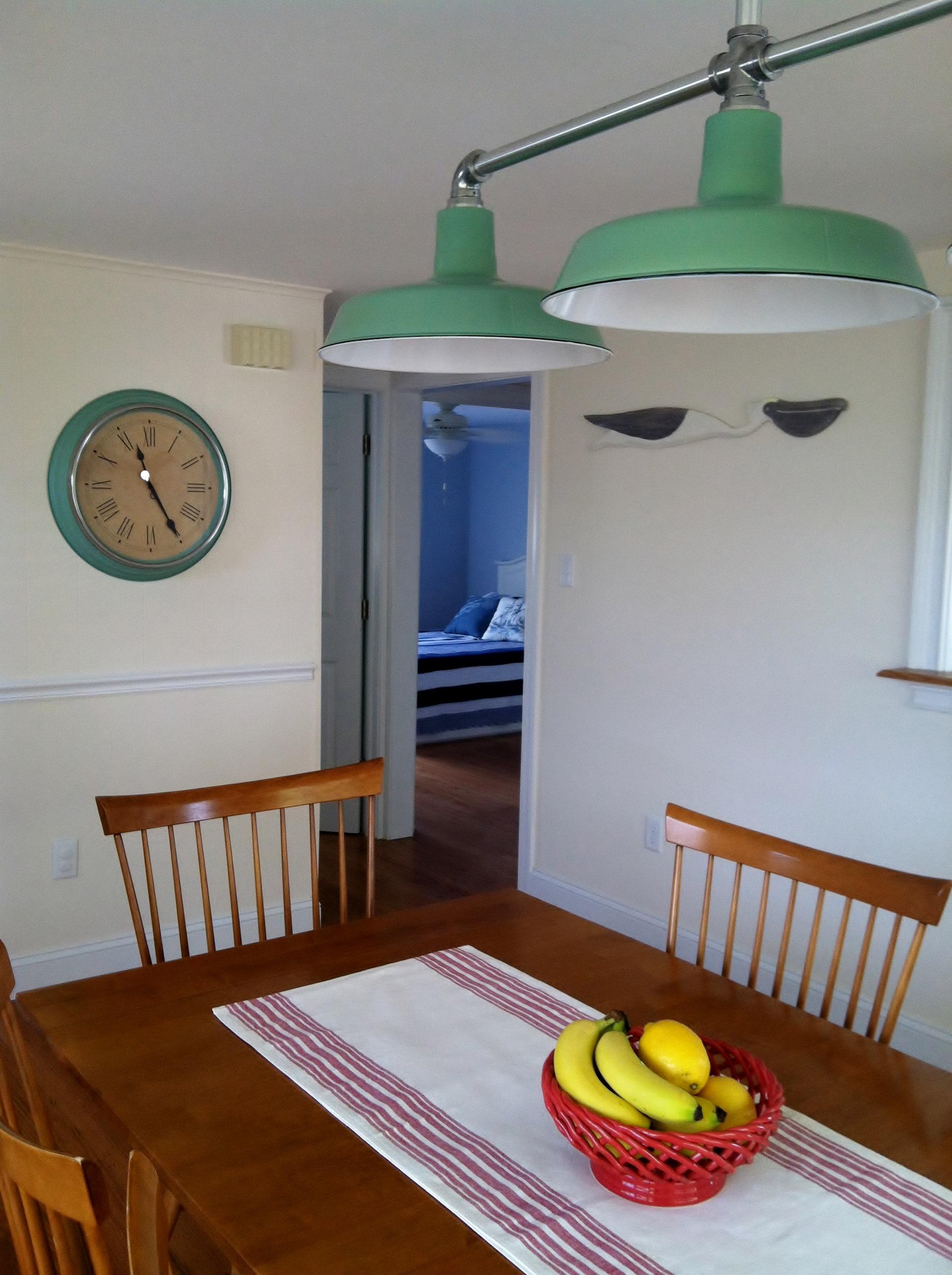 benjamin fortified porcelain pendant dining room
