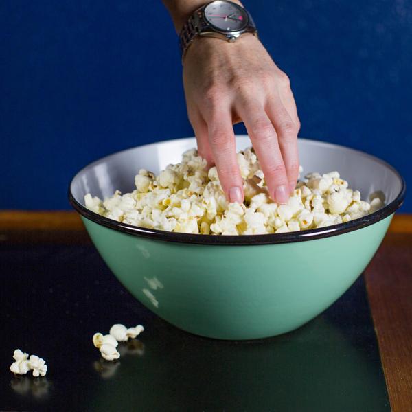 enamelware bowl jadite popcorn