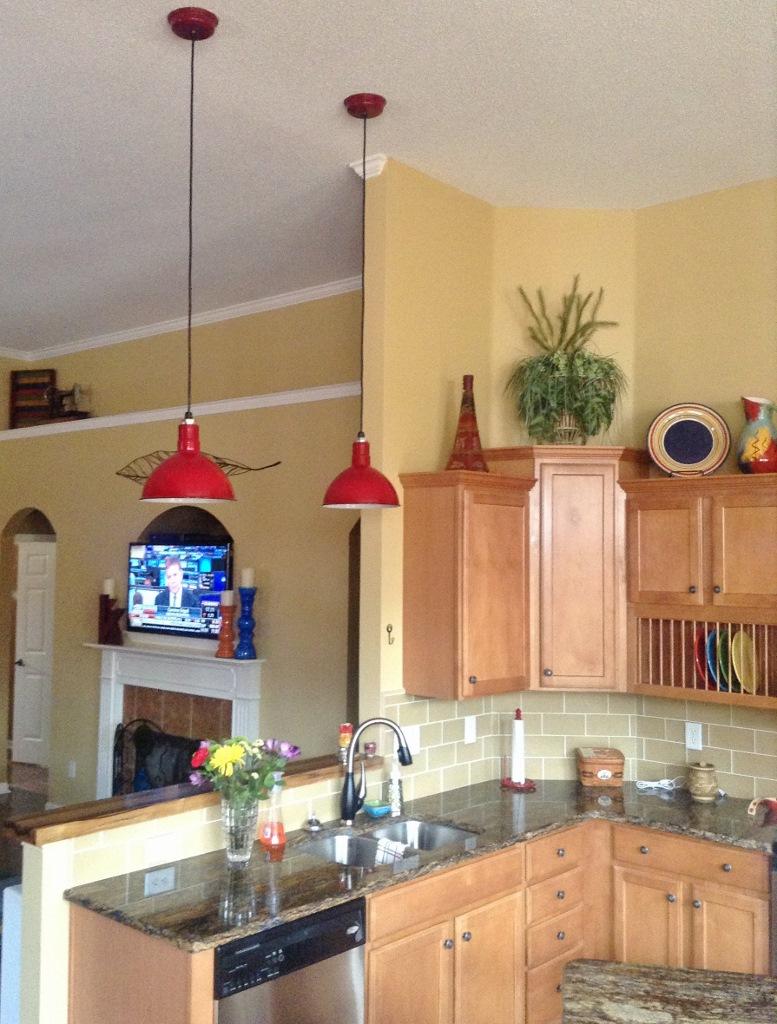 porcelain enamel pendant lighting kitchen