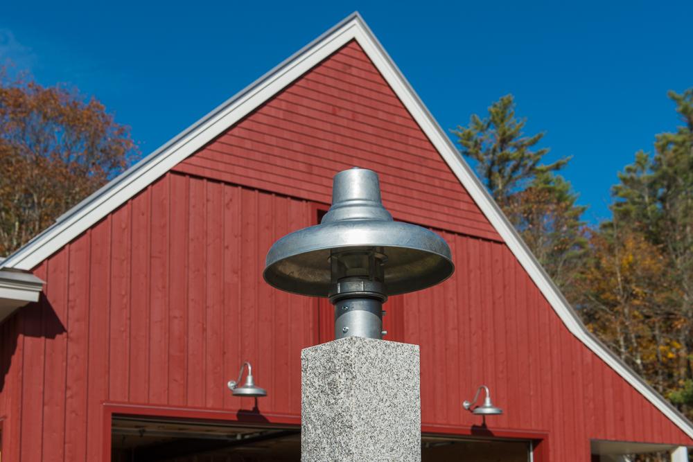 universal industrial guard post mount light exterior