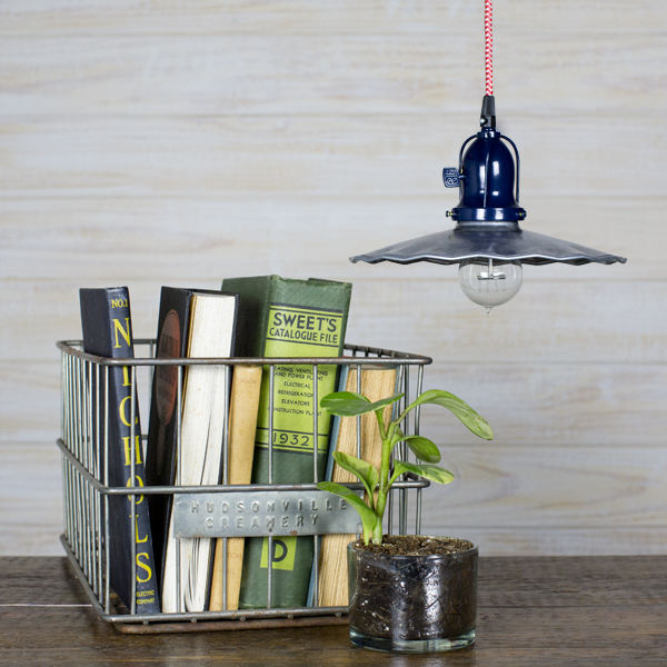 cord hung pendant fluted shade