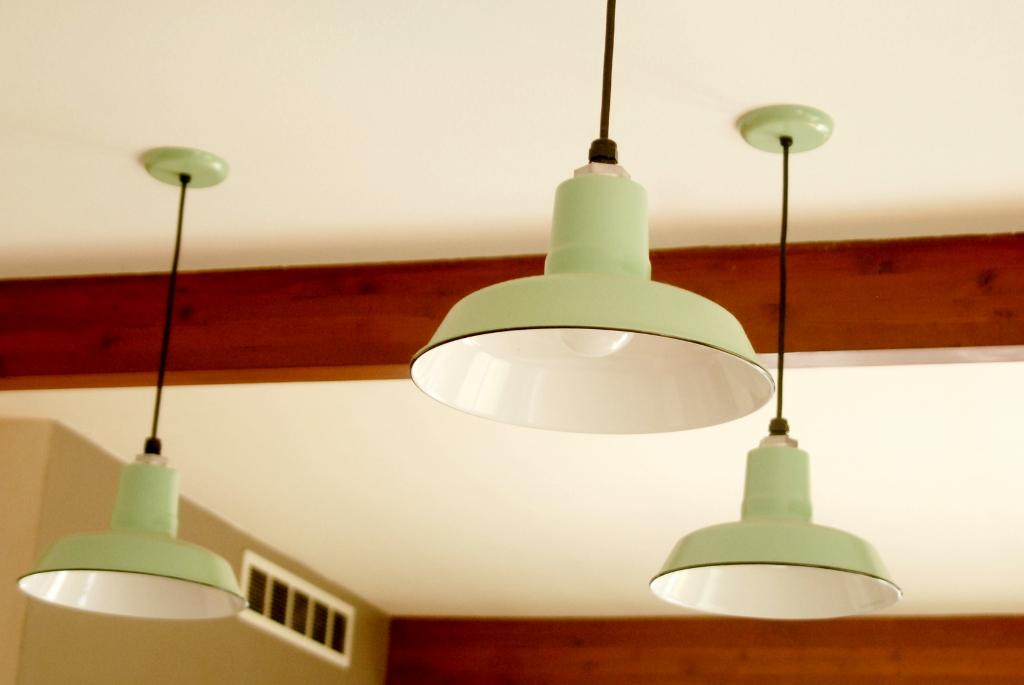 porcelain enamel kitchen lighting 1