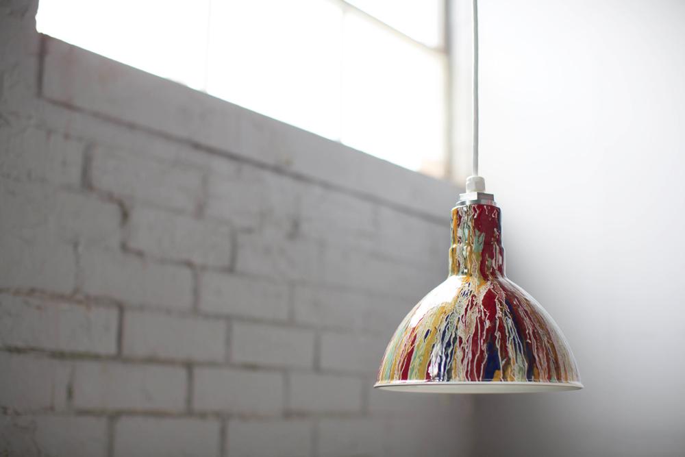 pollock cord hung pendant lighting