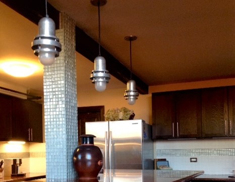industrial kitchen lighting brewster pendants2