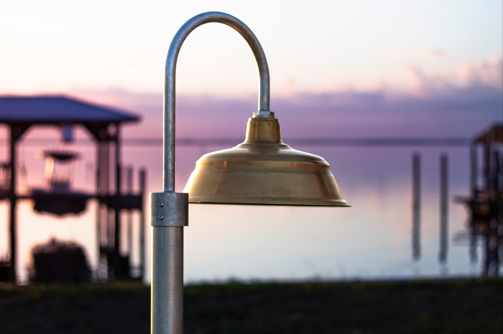 brass outdoor lighting american made
