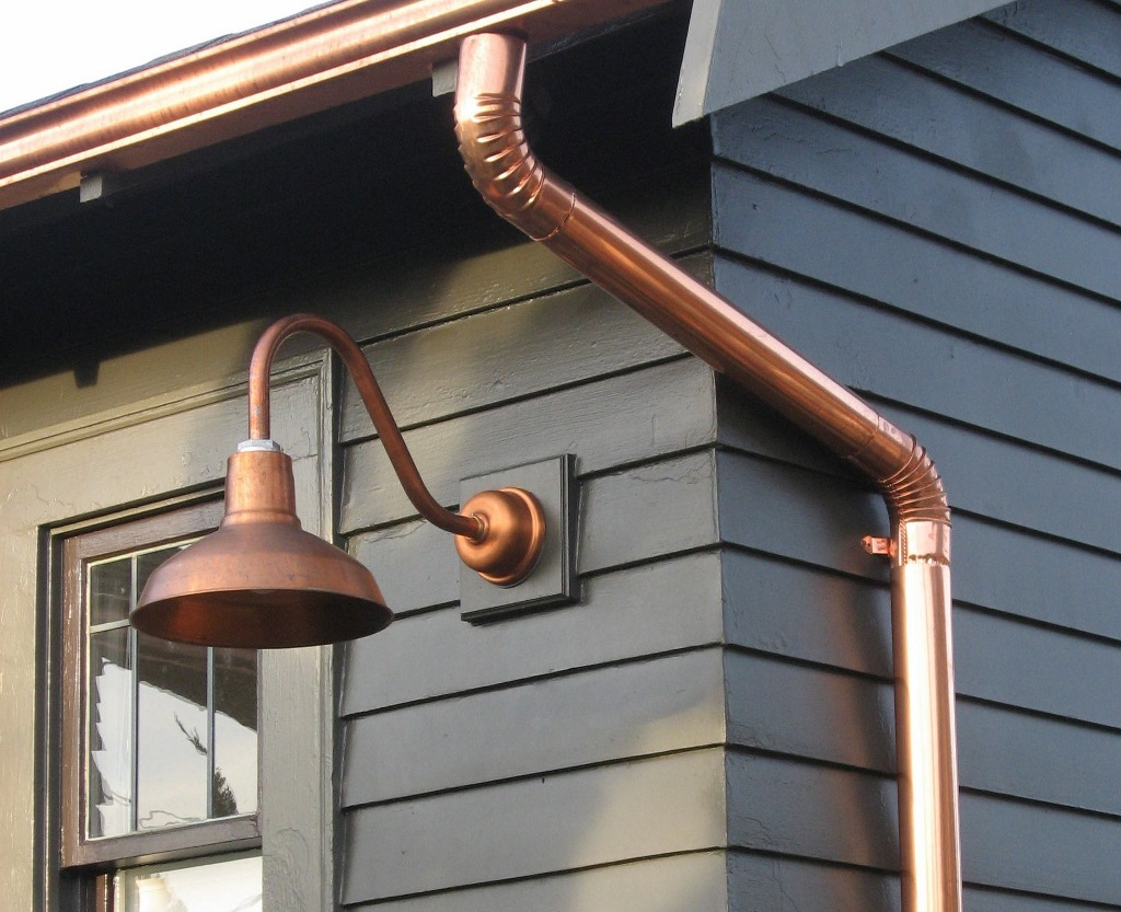 drake copper gooseneck light exterior lights