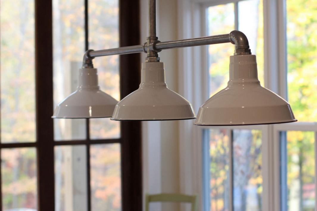 stem mount barn lighting