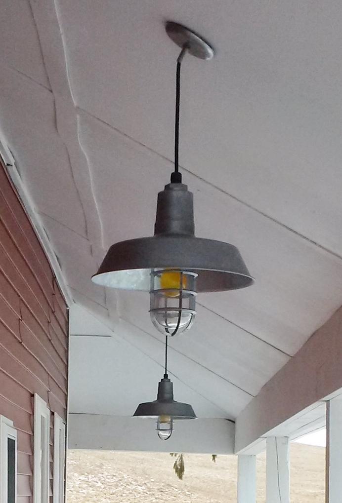 american made galvanized pendant lighting