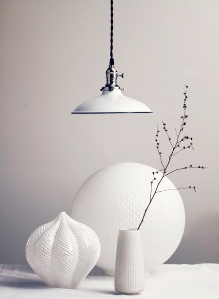 porcelain enamel pendant light