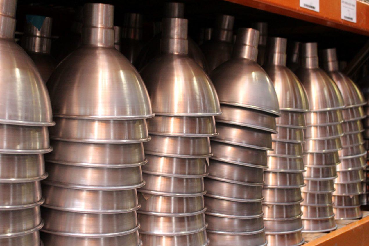copper barn lighting