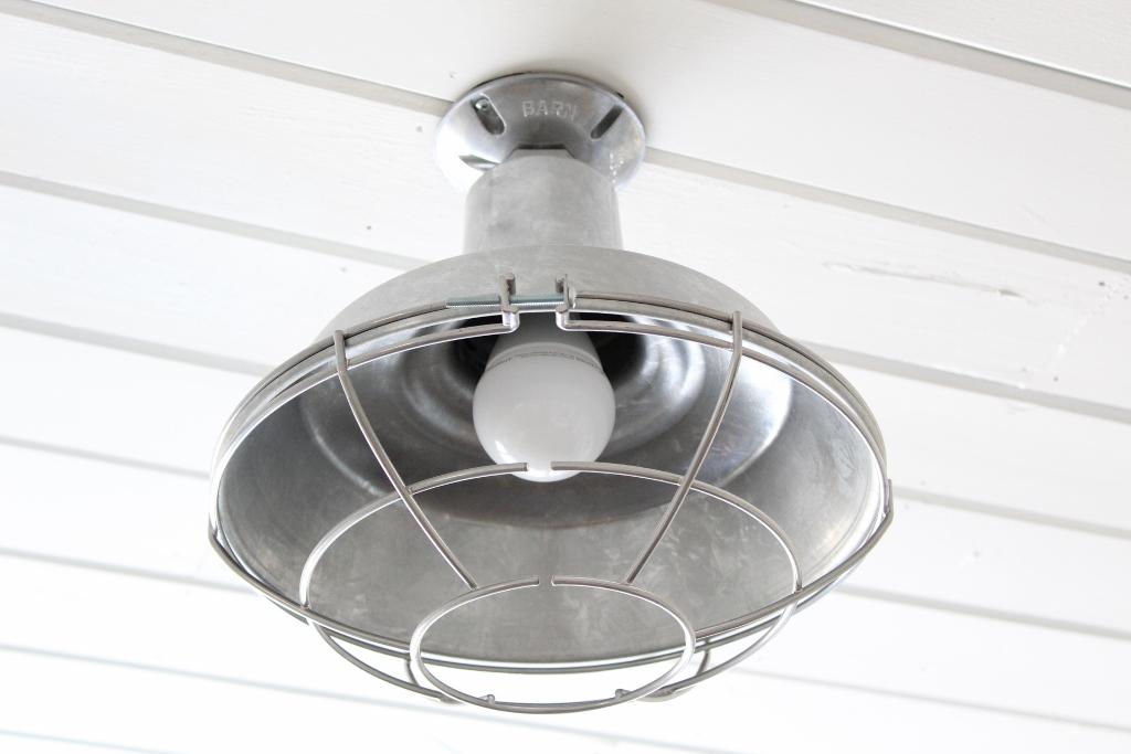 galvanized flush mount light