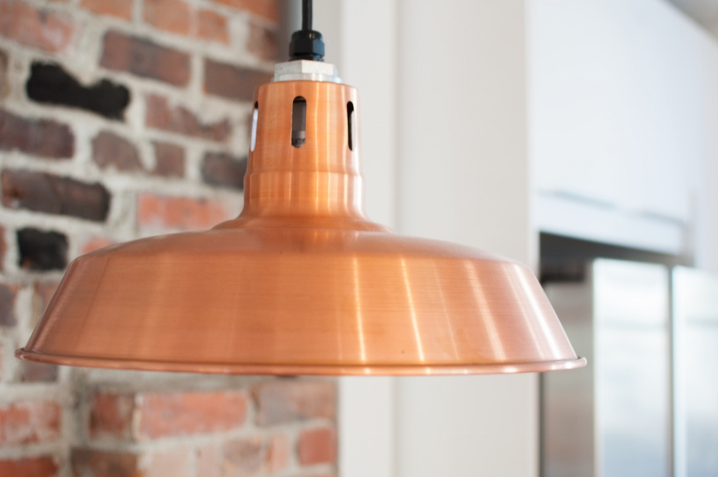 vented copper pendant light