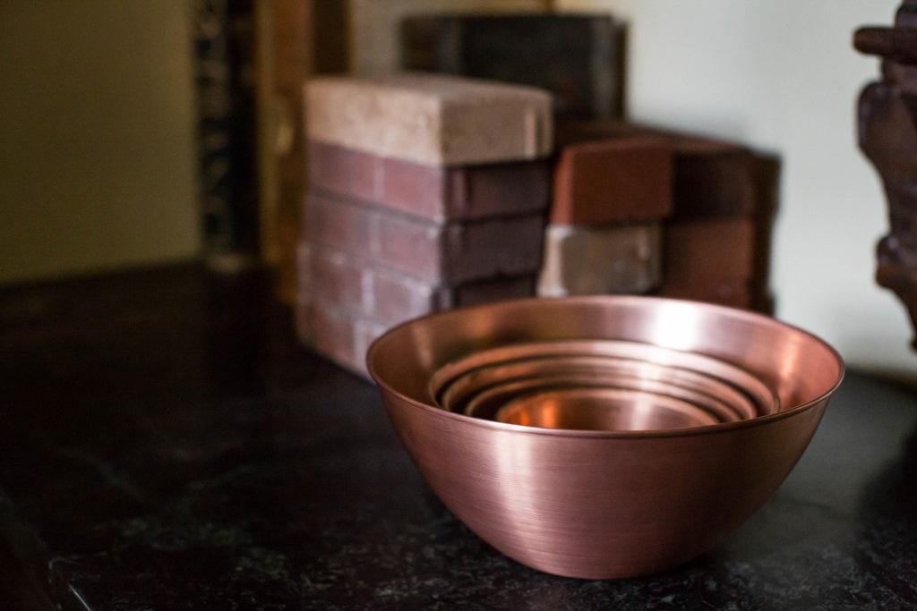 hand spun solid copper set nesting bowls 1024x683