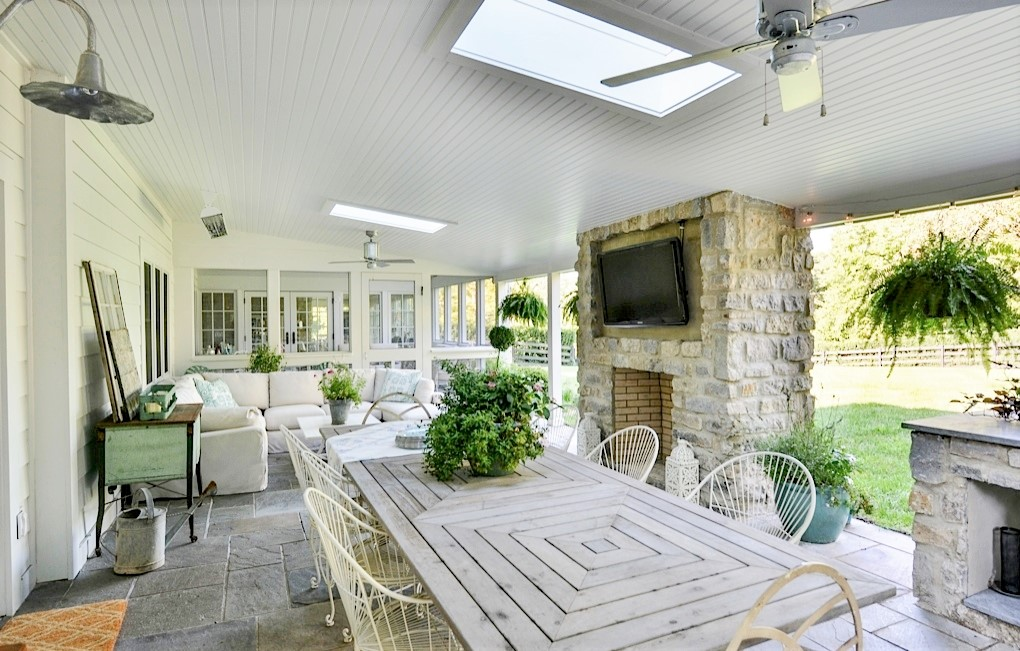 galvanized porch lighting