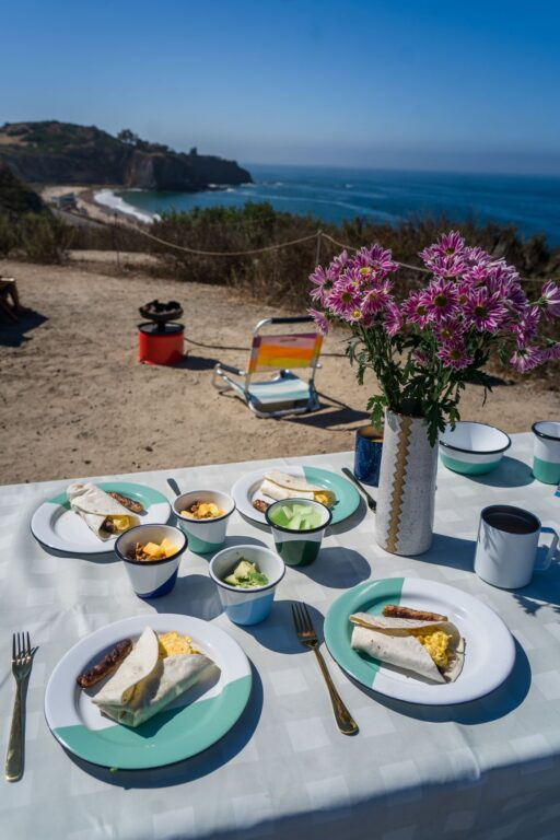 enamelware breakfast set