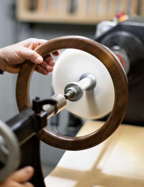 Timber Ore Arcadia Wooden Ring Pendant BTS 354B5522